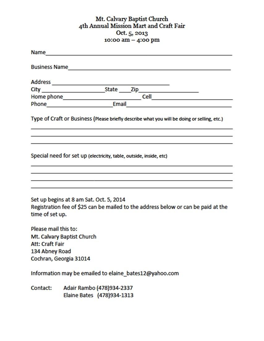 vendor forms for registration